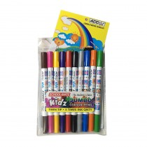 Add Gel Schoolmate Kids Jumbo Colour Pens (Set of 10)