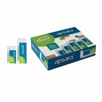 Apsara Non Dust Regular Eraser (Pack of 20)