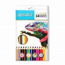Apsara Premium Colour Pencils Full Size (Card Box)