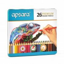 Apsara Premium Colour Pencils Full Size (Tin Box)