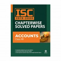 Arihant ISC 2019-2000 Chapterwise Solved Papers ACCOUNTS class 12