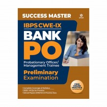Arihant Success Master IBPS CWE-VIII Bank PO (PO-MT) Preliminary Examination 2018