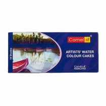 Camlin Artist's Water Colour Cakes 18 Assorted Colours