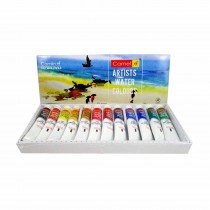 Camlin Artist's Water Colour Tubes 12 Assorted Colours