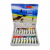 Camlin Artist's Water Colour Tubes 18 Assorted Colours 9 ml
