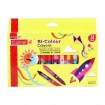 Camlin Bi-Colour Crayons 24 shades