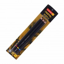 Camlin Charcoal Assorted Pencil (Pack of 3)