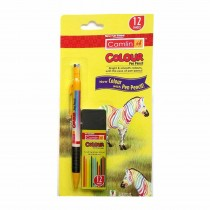 Camlin Colour Pen Pencil with Leads of 12 Shades (2mm)