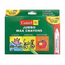 Camlin Jumbo Wax Crayons 1000 J - 12 Shades With 1 Additional Glitter