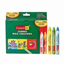 Camlin Jumbo Wax Crayons 1000 J - 24 Shades With 2 Additional Glitter