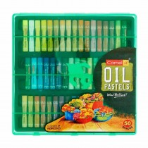 Camlin Oil Pastels 50 Shades in Plastic Box