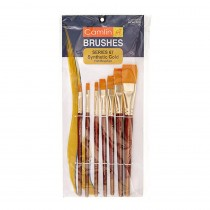 Camlin Synthetic Gold Hair Flat Brush (Series 67) Pack of 10
