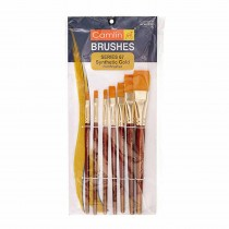 Camlin Synthetic Gold Hair Flat Brush (Series 67) Pack of 5