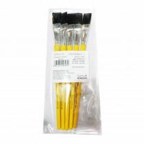 Camlin Synthetic Plain Hair Flat Brush (Series 65) Pack of 5
