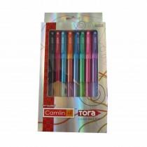Camlin Tora Assorted Cap Type Ball Pen (Set of 8)