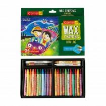 Camlin Wax Crayons 1000 24 Shades New Pack (Pack of 3)