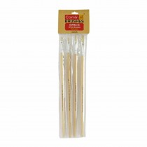 Camlin White Bristle Hog Flat Brush (Series 56) Set of 4
