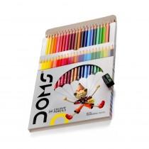 DOMS Full Size Colour Pencils (Tin Flat Box)