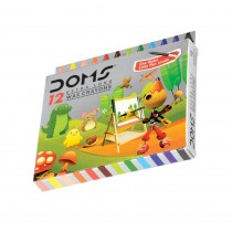 DOMS Long Wax Crayons (Pack of 2)
