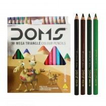 DOMS Mega Triangle Colour Pencils (Set of 12)