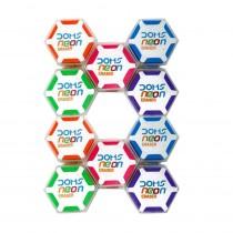 DOMS Neon Hexagonal Eraser (Pack of 60)