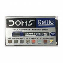 DOMS Refilo Permanent Marker Pen (Pack of 2)