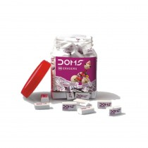 DOMS Regular Pencil Erasers (Jar of 100)