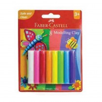 Faber-Castell 8 Modelling Clay 100gm