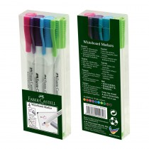 Faber-Castell Assorted Permanent Markers (Wallet of 4)