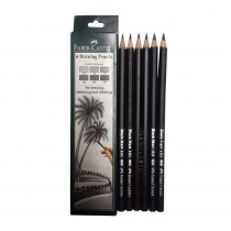 Faber-Castell Set of 6 Drawing Graded Pencils (Set of 6)