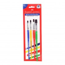 Faber-Castell Synthetic Hair Tri Grip Flat Brush
