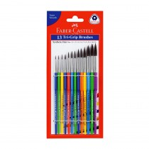 Faber-Castell Synthetic Hair Tri Grip Round Brush