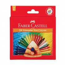 Faber-Castell Triangular Grip Wax Crayons
