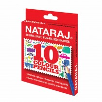 Nataraj Colour Pencils Half Size (Set of 10) Pack of 2