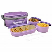 Nayasa Duplex Microsafe Insulated Tiffin 3 Container
