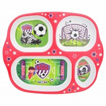 Nayasa Melamine Real Game Partition Plate (Pack of 2)