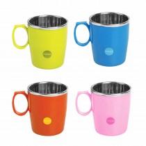Nayasa Micro Safe PP n Alloy Mug 300 ml (Pack of 2)