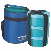 Nayasa Microfresh Bistro Handy Microsafe Insulated Tiffin 3 Container