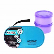 Nayasa Microfresh Crunchy Munchy Microsafe Insulated Tiffin 2 Container
