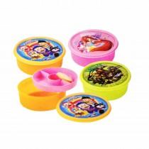 Nayasa Round Double Decker Dlx Kids Lunch Box (Pack of 6)