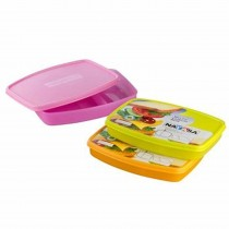 Nayasa Witty Lunch Box Kids Lunch Box (Pack of 6)