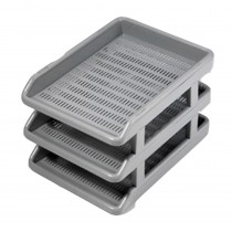 Omega Office Tray Deluxe with Risers (360x255x45) mm