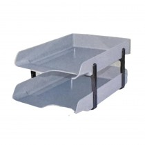 Omega Office Tray Letra with Plastic Risers (340x245x55) mm