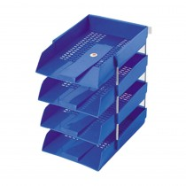 Omega Office Tray PP With Risers Set (368x251x68) mm