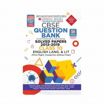 Oswaal Books CBSE Question Bank Class 10 English Language & Literature Chapterwise & Topicwise (For March 2020 Exam)