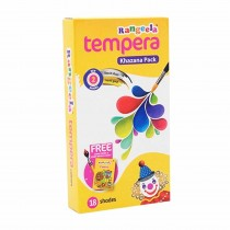 Pidilite Rangeela Tempera Colours 72ml (18 Shades of 4ml) with Brush (Pack of 3)