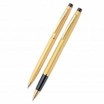 Pierre Cardin Kriss Satin Gold Roller & Ball Pen Gift Set