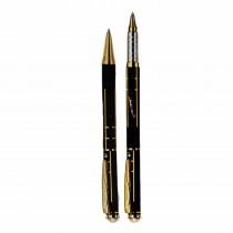 Pierre Cardin Pearl Black & Gold Pen Set