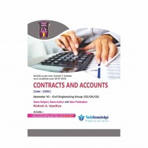 Techknowledge Publications Contracts & Accounts by Upadhye For Civil Engineering Sem 6
