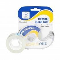 WorldOne Invisible Tape with Dispenser (Pack of 3)